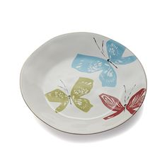 Marin Butterflies Dinner Plate | Crate and Barrel