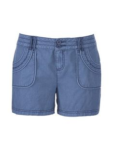 linen shorts with po