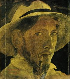 John Bauer, Self Portrait, 1908  Beloved Swedish painter/illustrator whose imagination gave us a wondrous world of trolls and goblins ...