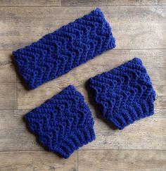 Simple Waves Headband And Boot Cuffs By Jennifer Ozses - Free Crochet Pattern - (ravelry)