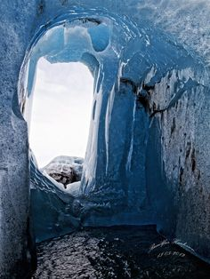 Ice tunnel, Iceland