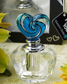 Murano Glass Collection perfume  bottles. http://www.bluerainbowdesign.com/WeddingFavorProduct.aspx?ProductID=PR04051117499900123456789XBRD99889