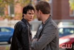 """""""Isobel"""" - Ian Somerhalder as Damon, Matt Davis as Alaric in THE VAMPIRE DIARIES on The CW. Photo: Bob Mahoney/The CW ©2010 The CW Network, LLC. All Rights Reserved."""