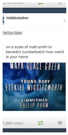 On a scale of Matt Smith to Benedict Cumberbatch...