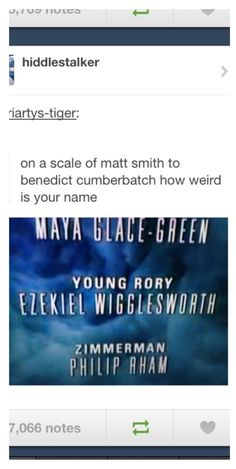 On a scale of Matt Smith to Benedict Cumberbatch...