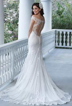 Sincerity Bridal 3938- off the shoulder lace wedding gown - The Blushing Bride boutique in Frisco, Texas