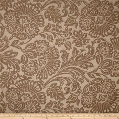 Richloom Brahma Jacobean Jacquard Portobello from @fabricdotcom  This medium weight jacquard fabric is perfect for window treatments (draperies, curtains, valances), accent pillows, duvet covers, and upholstery. Colors include shades of mocha brown.