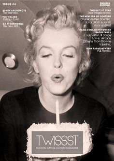 Twissst issue #4 English Edition - Marilyn Monroe / magazine design / cover / editorial design