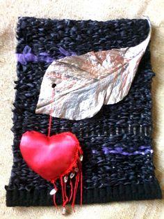 Tapíz realizado en telas y materiales naturales.www.crochetvintage.blogspot.com.ar