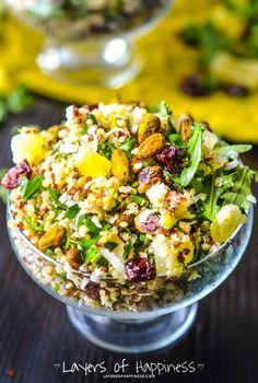 Sweet Pineapple Chicken Quinoa Salad - Layers of Happiness