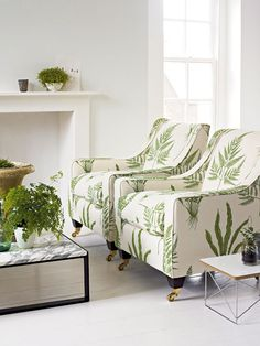 fern fabric upholstery - WANT!!