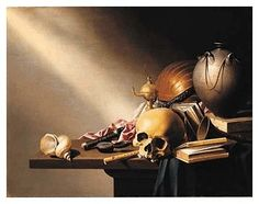 Harmen Steenwyck's (1612-1656) Still Life:    Harmen Steenwyck--An Allegory of the Vanitas of Human Life