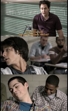 Oh come on Coach, Scott's best friend is the king of sarcasm! Stiles' face is priceless tho 😂 Stiles Teen Wolf, Teen Wolf Art, Teen Wolf Ships, Teen Wolf Boys, Teen Wolf Dylan, Teen Wolf Memes, Teen Wolf Quotes, Teen Wolf Funny, Sterek