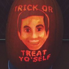 "nbcparksandrec: "" smartgirlsattheparty: "" One of my pumpkins this year :) "" """