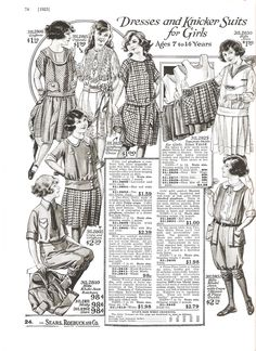 1920s fashion catalog1920s fashion catalog