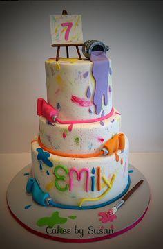 Art studio cake