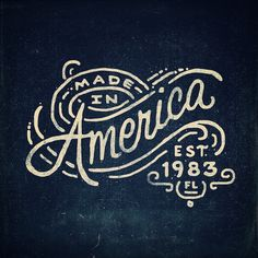 Rugged retro american style stamp typography on denim indigo background Illustrations, Hand lettering, Doodles - Conrad Garner Vintage Typography, Typography Letters, Typography Logo, Graphic Design Typography, Lettering Design, Graphic Design Illustration, Logo Design, Design Illustrations, Vintage Graphic