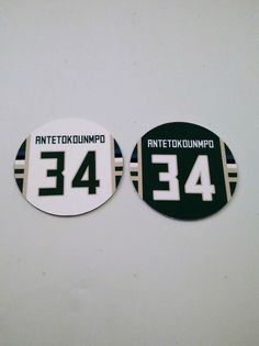 Giannis Antetokounmpo Magnets - Set of 2 - Milwaukee Bucks Colors - Milwaukee Bucks, Magnets, Basketball, Fan, Colors, Gifts, Presents, Colour, Hand Fan