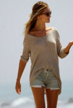 Long Sweater With Shorts