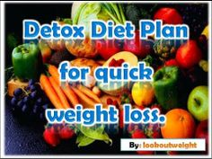 detox plan for quick weight loss