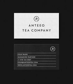 anteeo tea company . michael mason . #businesscards #design