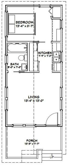 14x30 Tiny House -- #14X30H1A -- 419 sq ft - Excellent Floor Plans