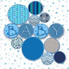 Blue & Grey Digital Paper Pack Printable Designs by GoneDigital