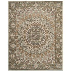 Safavieh Handmade Heritage Timeless Traditional Blue/ Grey Wool Rug (9' x 12') , Size 9' x 12'