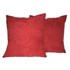 Free Shipping. Buy Hudson Street Faux Suede 22 x 22 in. Decorative Pillow - 2 Pack at Walmart.com