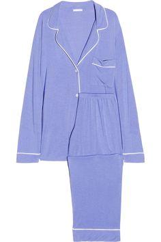 EberjeyGisele stretch-jersey pajama set
