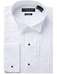 09cbd1120f7  39.99 - Men s Modern Fit French Cuff 100% Cotton Tuxedo Shirt - Laydown   amp