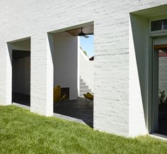 Park Lane House White Brick Exterior by Kennedy Nolan