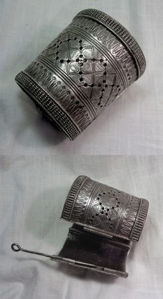 Afghanistan | Vintage silver cuff bracelet. ca. mid 20th century | 512$