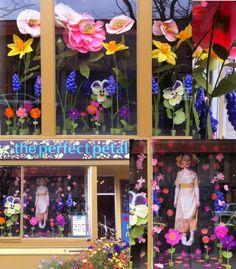 Window Display, Giant paper flowers @ The Perfect Petal by Kristen Hatgi Sink