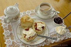 Traditional Tea Time In England