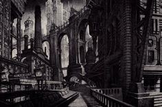 gotham-2 [( Science-fiction, dystopia, future noir, Blade Runner, cyberpunk, night skylines, dark city, Metropolis )]