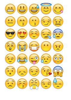 Emoji printable emociones