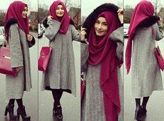 beauty, fashion, and black image Stylish Hijab, Hijab Chic, Stylish Dresses, Hijab Gown, Hijab Outfit, Muslim Women Fashion, Islamic Fashion, Hijab Fashion, Fashion Outfits