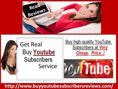 http://www.buyyoutubesubscribersreviews.com - Subscribers play a very vital role in the promotion of the business channel. More subscribers will help to attract more viewers towards your channel and you channel will be automatically popular. So, if you want to increase your subscribers count fast then purchase it from a real firm after reading buy YouTube subscribers reviews.