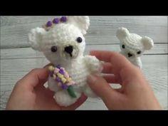 Crochet Your Own Mini Bear - YouTube Sharon Ojala, Teddy Bear Patterns Free, Crochet Wedding, Crochet Animals, Teddy Bears, Veil, Free Pattern, Kitty, Make It Yourself