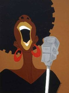 "Black Art/ African American Art ""The Audition"" in. Black Girl Art, Black Women Art, Art Girl, Jazz Art, Neo Soul, Black Artwork, Wow Art, Afro Art, Caricatures"