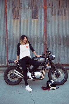 Co-founder of Babes Ride Out, Anya Violet. She loves space, motorcycles, adventure, travel, camping, cats, science, nature, beards, and design. Read more about her on the Vans Girls blog.