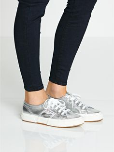 SUPERGA 2750 Cotmetu Plimsolls - Silver | veryexclusive.co.uk