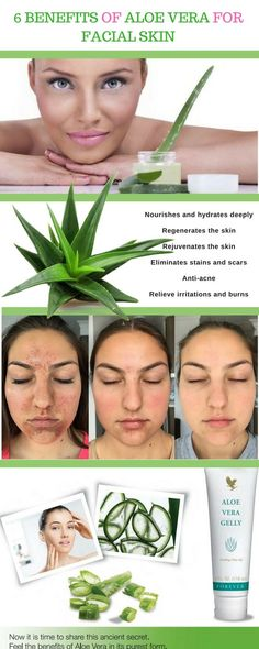 Benefits of aloe vera for facial skin - Skin care. Natural health from Aloe vera plants