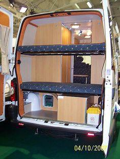 Survival camping tips Mini Motorhome, Motorhome Interior, Campervan Interior, Campervan Bed, Camper Caravan, Camper Life, Camper Van, Accessoires Camping Car, Sprinter Van Conversion
