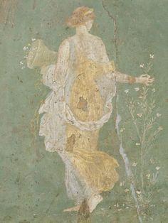 Flora siglo I fresco Naples National Archaeological Museum De: Villa di Arianna, Stabiae