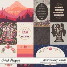 Don't Worry Cards by Kristin Cronin-Barrow & Amber Shaw