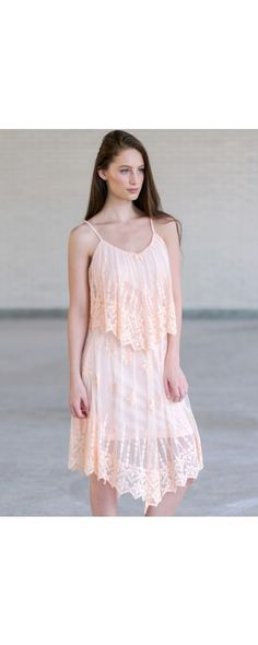 Lily Boutique Whimsical Expression Embroidery Mesh Illusion Midi Dress in Blush, $44 Pink Embroidered Flutter Top Dress, Cute Summer Dress, Roaring 20s Great Gatsby Dress www.lilyboutique.com