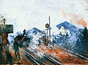 """New artwork for sale! - """" Claude Monet - Saint Lazare Station Track Coming Out by Claude Monet """" - http://ift.tt/2mfIB5T"""