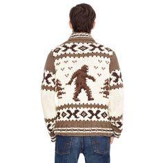 Fossil Sasquatch Zip Cardigan